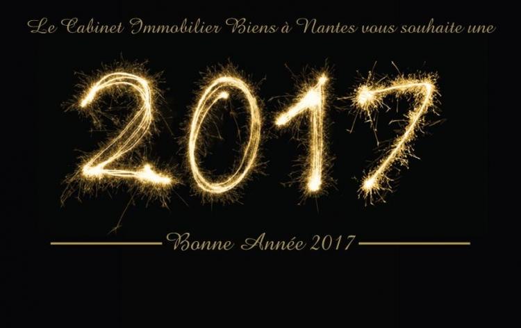Toute l'équipe de votre agence immobilière BIENS A NANTES vous souhaite une excellente et heureuse année 2017.